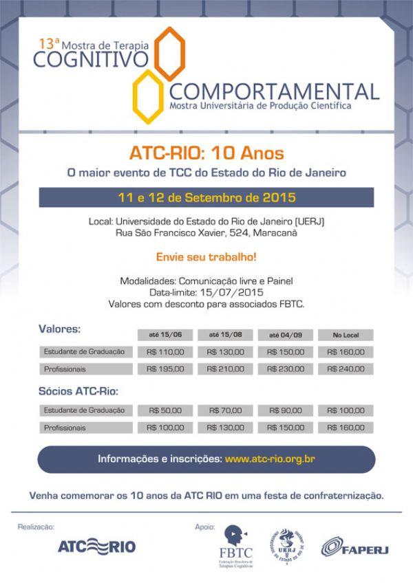 Ref: XIII Mostra de Terapia Cognitivo Comportamental do Estado do Rio de Janeiro