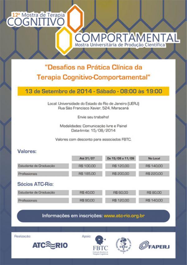Ref: 12ª. Mostra de Terapia Cognitivo-Comportamental – Confira as fotos e os resumos dos trabalhos