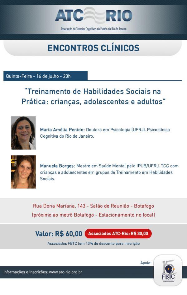 Ref: Baladas Clínicas: Treinamento de Habilidades Sociais na Prática: crianças, adolescentes e adultos