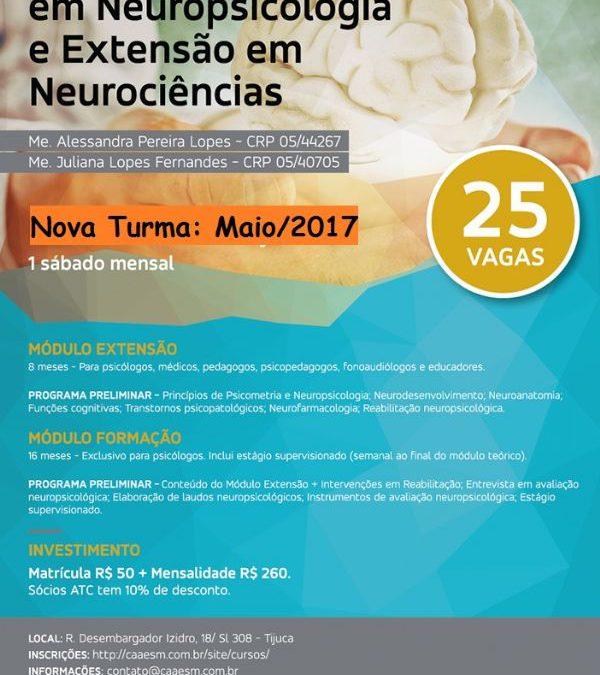 Formação em Neuropsicologia e Extensão em Neurociências
