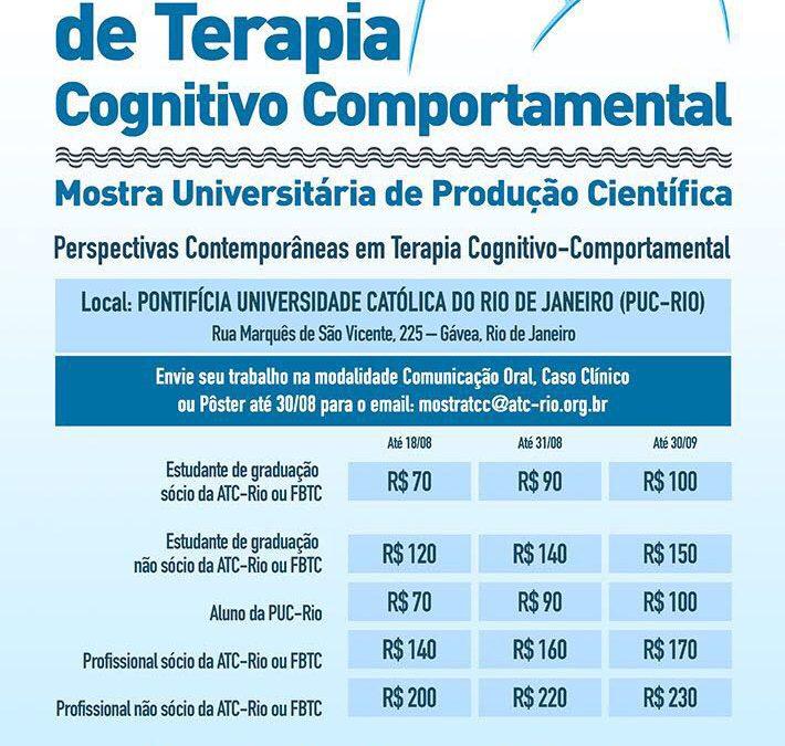 XV Mostra de Terapias Cognitivo Comportamentais