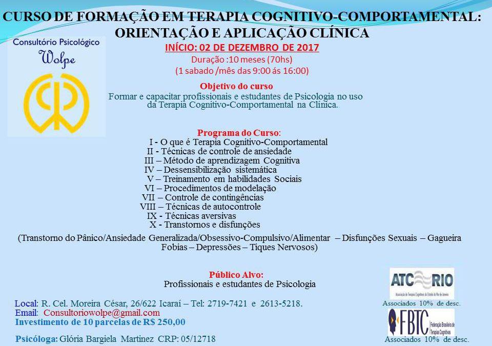 Curso De Formação Em Terapia Cognitivo-Comportamental: Orientação E Aplicação Clínica