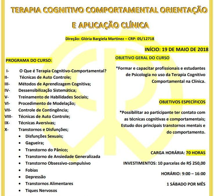Formação em Terapia Cognitivo Comportamental Orientação e Aplicação Clínica