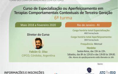Curso de especialização em Terapias Comportamentais Contextuais da Terceira Geração.