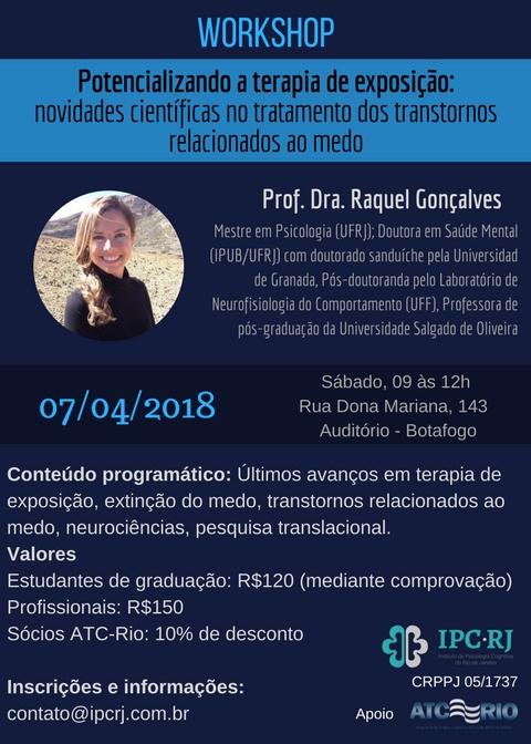 Workshop – Potencializando a terapia de exposição .
