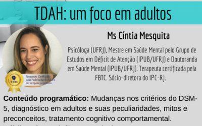 Workshop: TDAH-> Um foco em adultos.