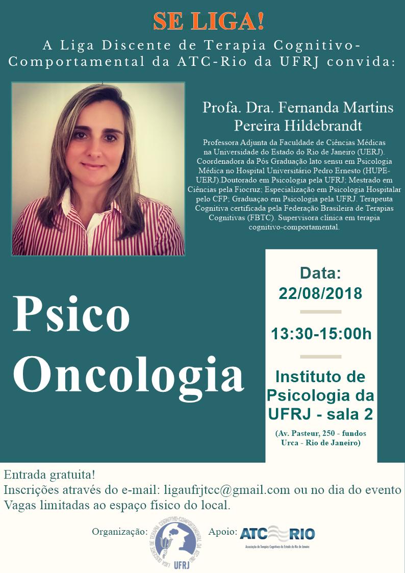 Se Liga! A liga Discente de Terapia Cognitivo Comportamental da ATC-RIO da UFRJ convida: Dra. Fernanda.