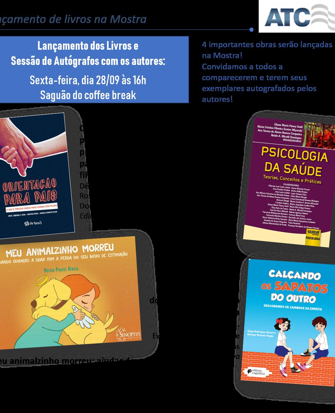 Lançamentos de Livros – Mostra de TCC