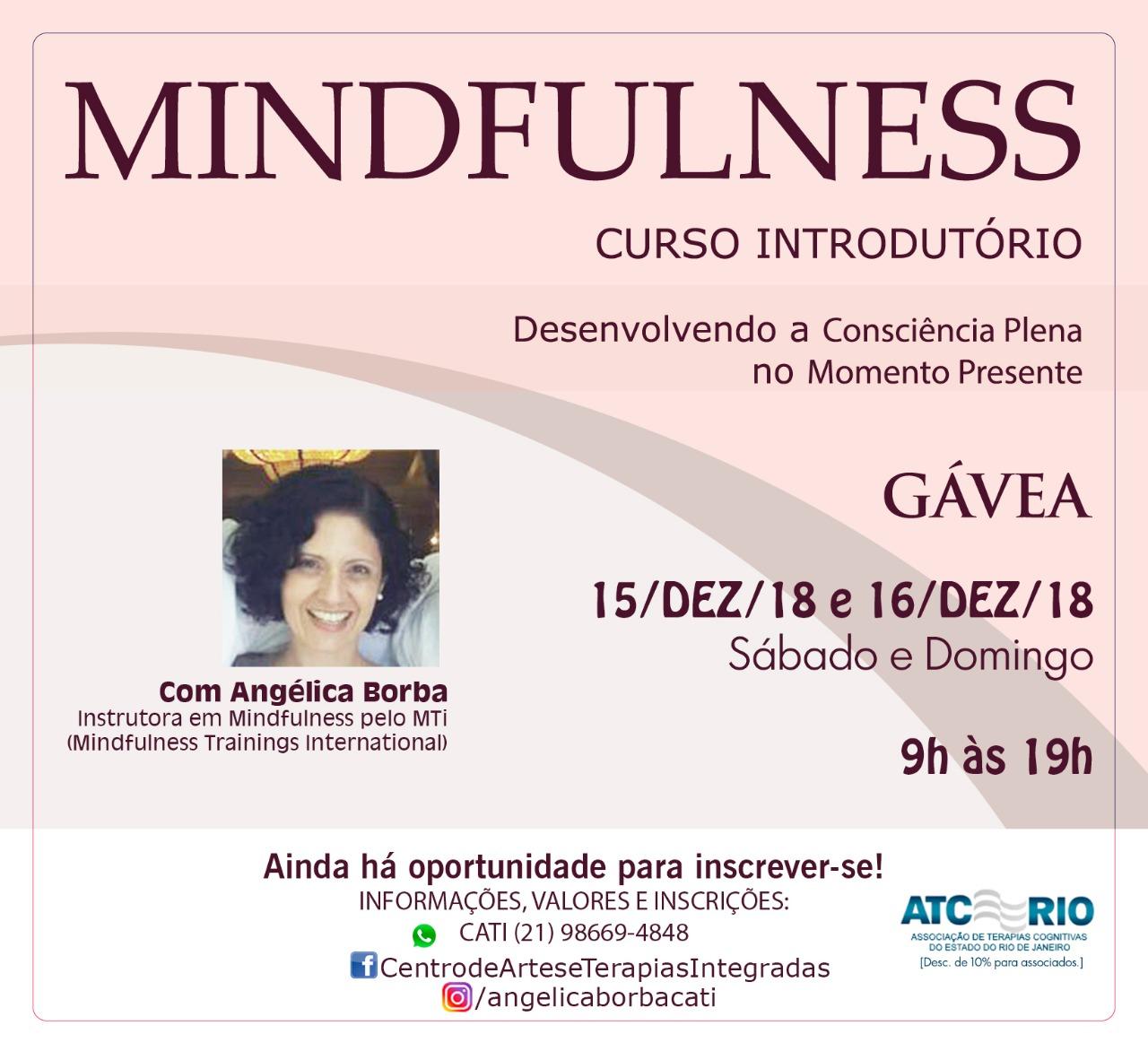 Mindfulness: Curso Introdutório   15 e 16-Dez-18