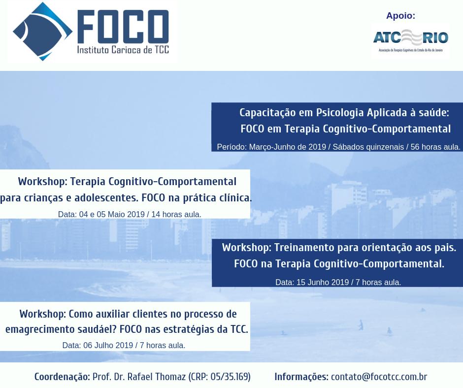 FOCO: Instituto Carioca de TCC | Cursos 1º Semestre 2019