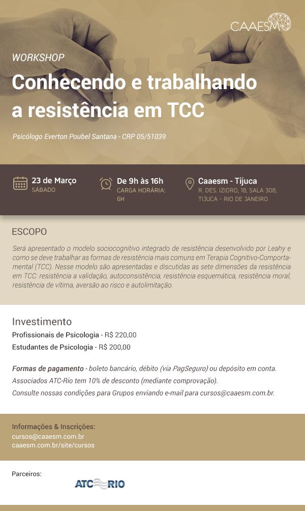 Conhecendo e trabalhando a resistência em TCC