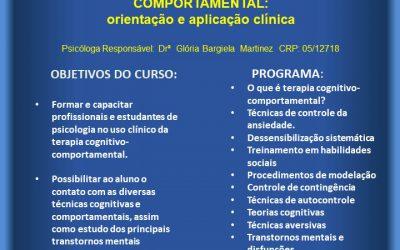 Curso de Formação em TCC Orientação e Aplicação Clínica