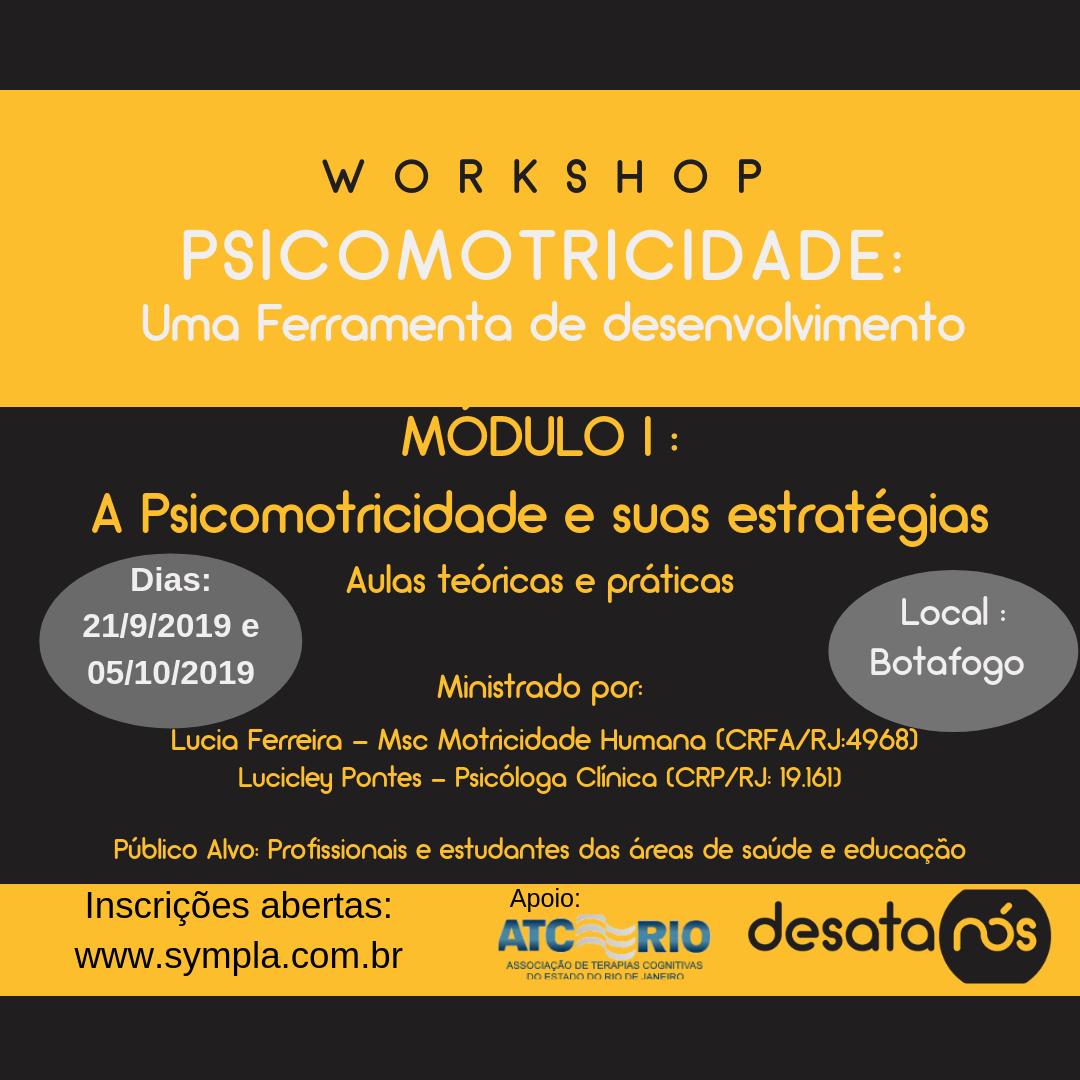 Workshop | PSICOMOTRICIDADE: Uma ferramenta de desenvolvimento