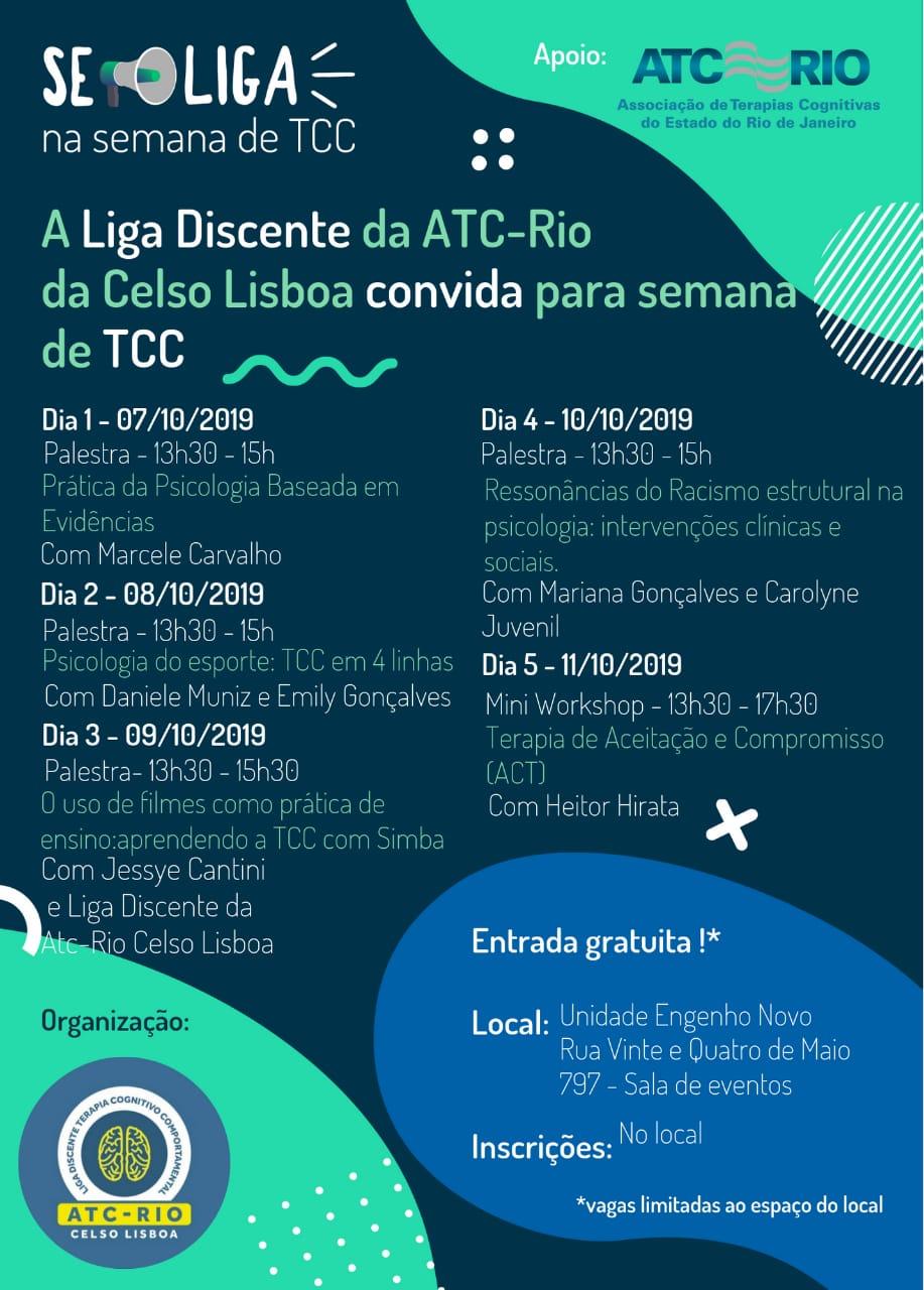 SE LIGA | Semana de TCC na Celso Lisboa