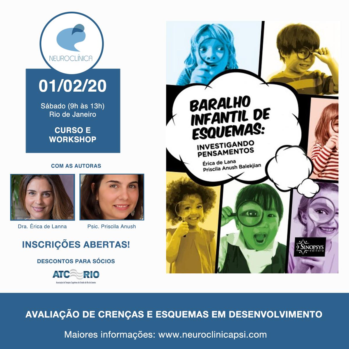 Avaliação de crenças e esquemas em desenvolvimento: Curso e Workshop