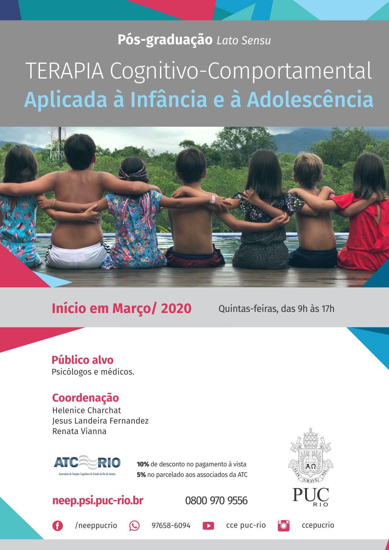 Pós-graduação lato sensu: Terapia Cognitivo-Comportamental aplicada à infância e à adolescência