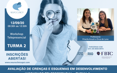 Curso e Workshop: Avaliação de crenças e esquemas em desenvolvimento e Workshop com Baralho Infantil de Esquemas